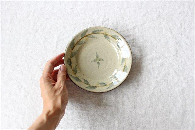 唐草5寸皿 陶器 工房コキュ 画像5