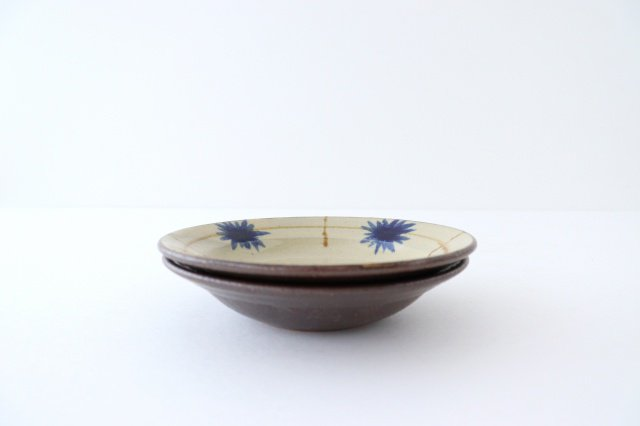 菊紋5寸皿 陶器 工房コキュ 画像2