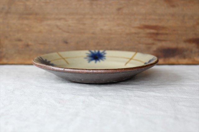 菊紋5寸皿 陶器 工房コキュ 画像4