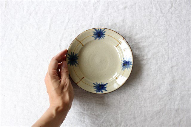 菊紋5寸皿 陶器 工房コキュ 画像5