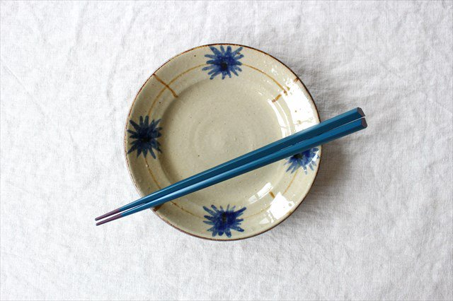 菊紋5寸皿 陶器 工房コキュ 画像6