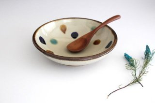 6寸鉢 水玉 陶器 エドメ陶房商品画像