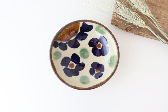 6寸鉢 花紋 陶器 エドメ陶房