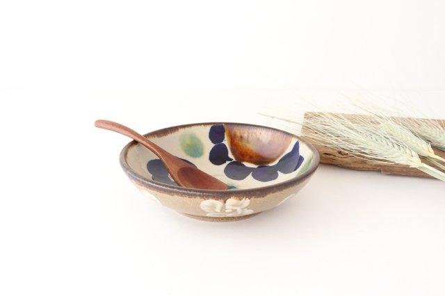 6寸鉢 花紋 陶器 エドメ陶房 画像2