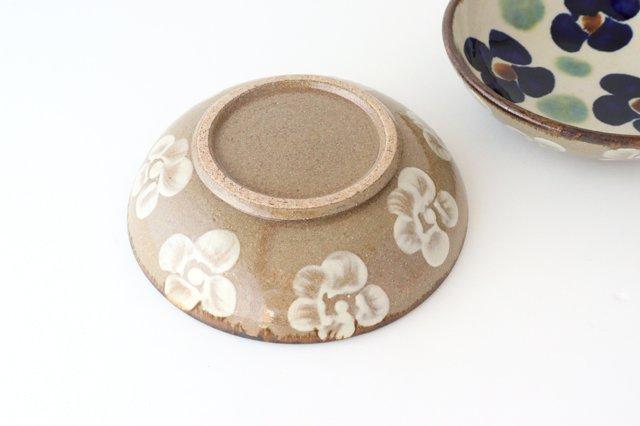 6寸鉢 花紋 陶器 エドメ陶房 画像3