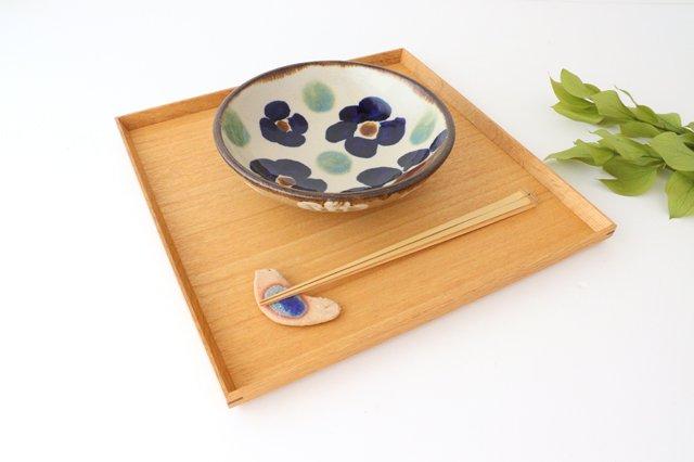 6寸鉢 花紋 陶器 エドメ陶房 画像5