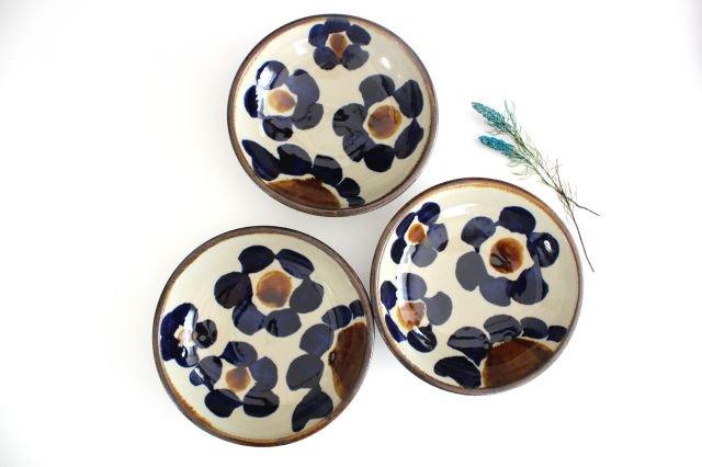 6寸鉢 花紋 陶器 エドメ陶房 画像6