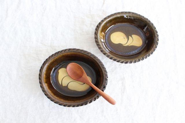 スリップウェア グラタン皿 【A】 陶器 柳瀬俊一郎 画像5