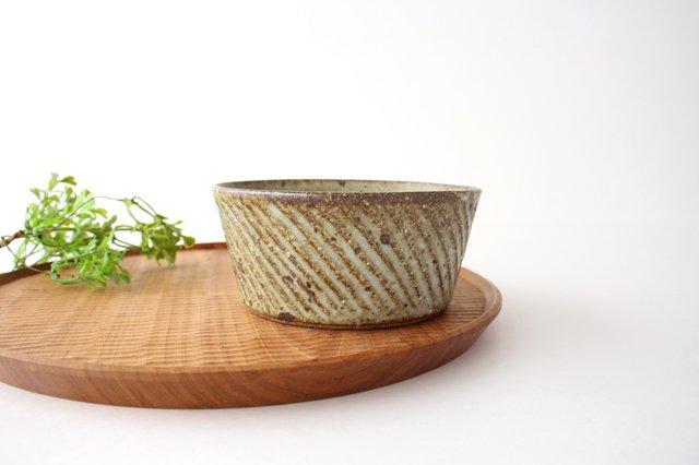 ナナメしのぎ鉢 もえぎ 【B】 陶器 伊藤豊 画像2