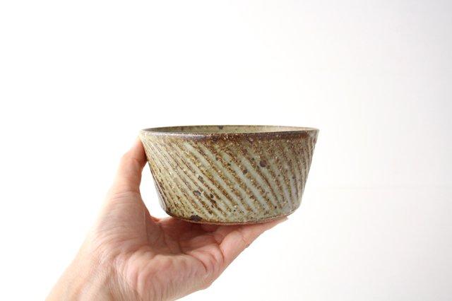 ナナメしのぎ鉢 もえぎ 【B】 陶器 伊藤豊 画像4