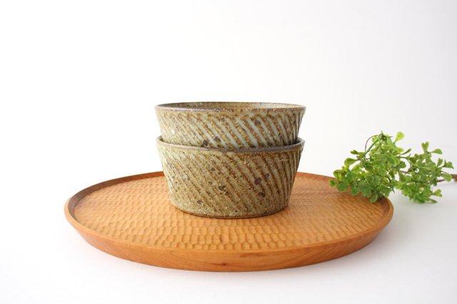 ナナメしのぎ鉢 もえぎ 【B】 陶器 伊藤豊 画像6