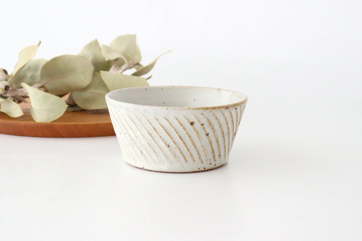 ナナメしのぎ鉢 粉引 陶器 伊藤豊