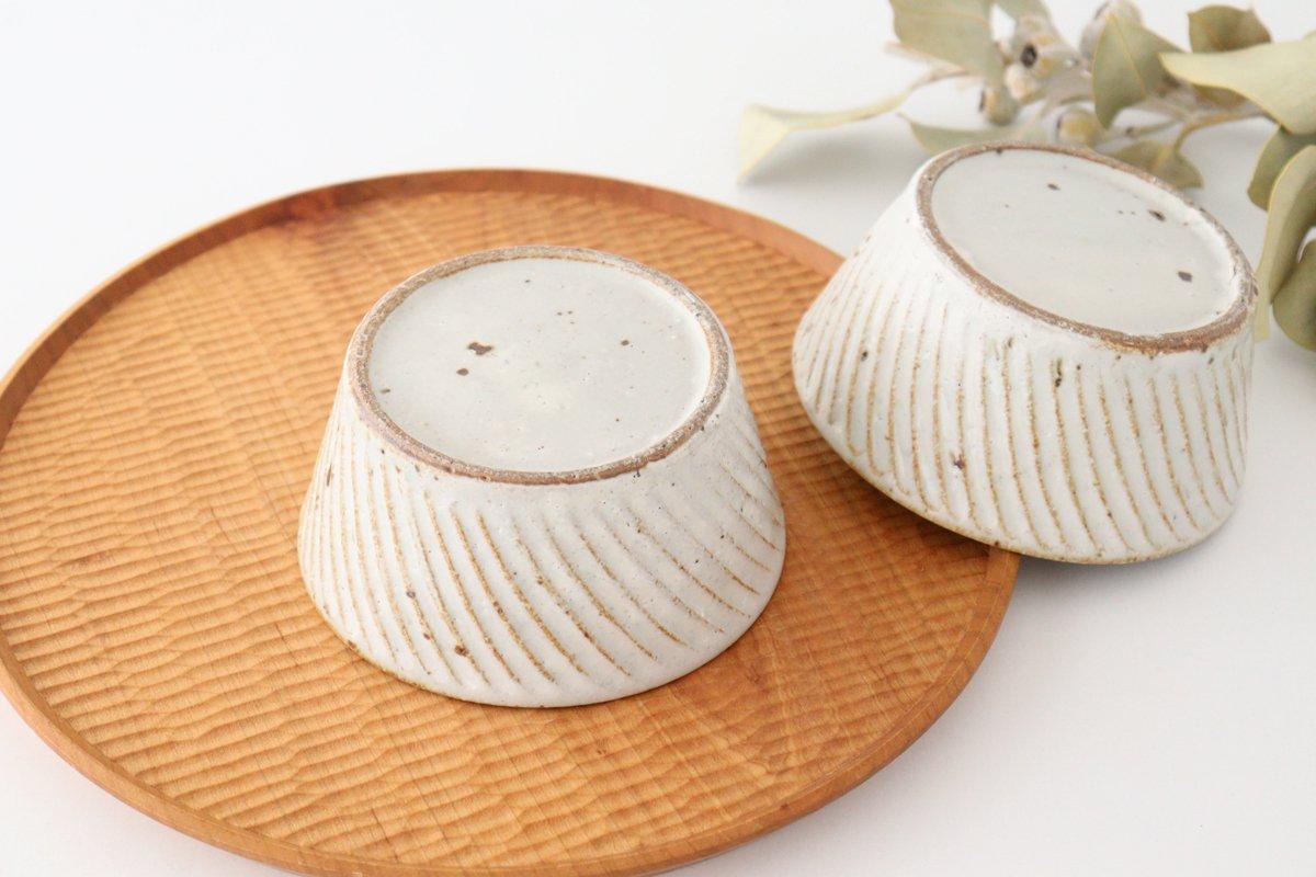 ナナメしのぎ鉢 粉引 陶器 伊藤豊 画像3