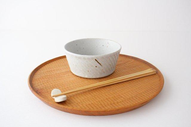 ナナメしのぎ鉢 粉引 陶器 伊藤豊 画像4