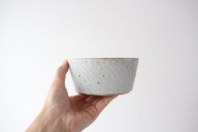 ナナメしのぎ鉢 粉引 陶器 伊藤豊 画像5