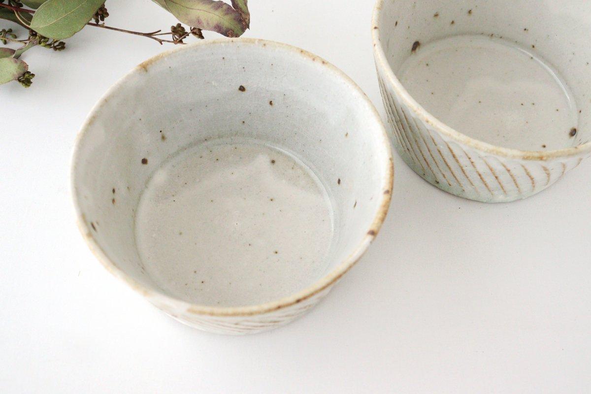 ナナメしのぎ鉢 粉引 陶器 伊藤豊 画像6