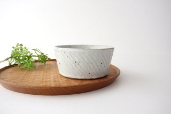 ナナメしのぎ鉢 粉引 陶器 伊藤豊商品画像