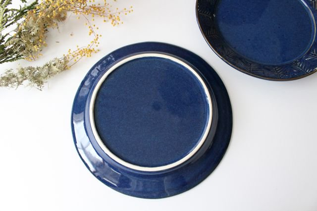 Lindaプレート ブルー 半磁器 アトリエキウト 小出麻紀子 画像5