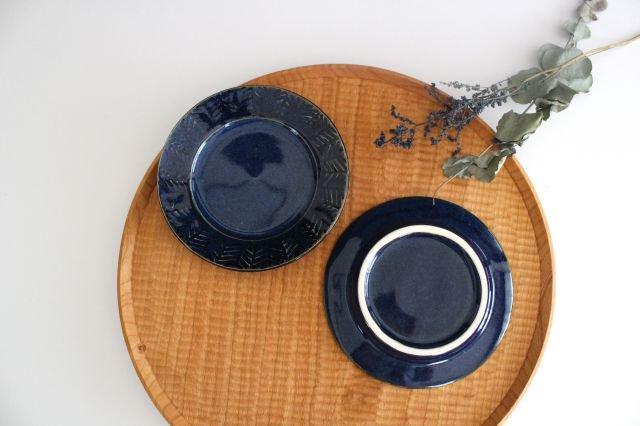 Linda plate S blue 半磁器 アトリエキウト 小出麻紀子 画像3