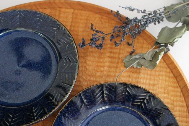 Linda plate S blue 半磁器 アトリエキウト 小出麻紀子 画像4