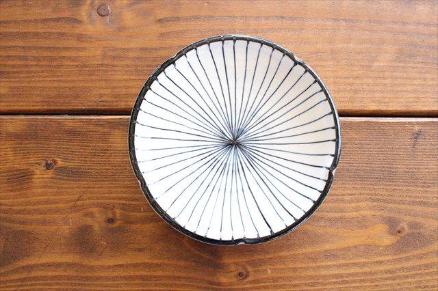 美濃焼 白化粧十草 5.5寸皿 陶器
