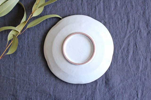 美濃焼 白化粧十草 5.5寸皿 陶器 画像3