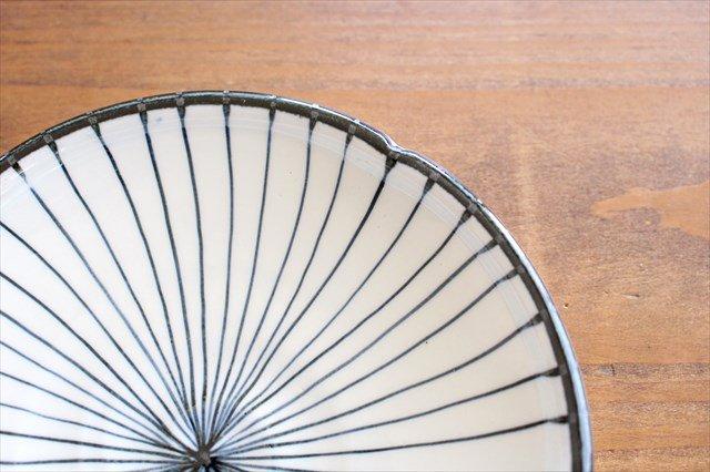 美濃焼 白化粧十草 5.5寸皿 陶器 画像4