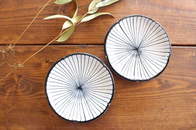 美濃焼 白化粧十草 5.5寸皿 陶器 画像6