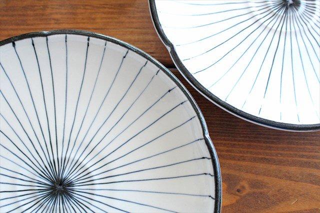 美濃焼 白化粧十草 7寸皿 陶器 画像2