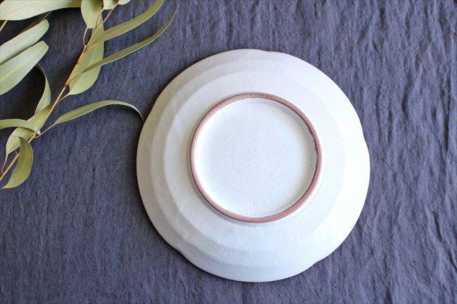 美濃焼 白化粧十草 7寸皿 陶器 画像3
