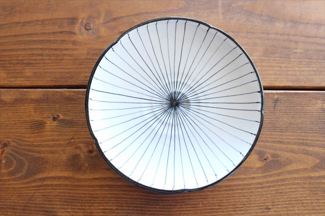 美濃焼 白化粧十草 7寸皿 陶器 画像4