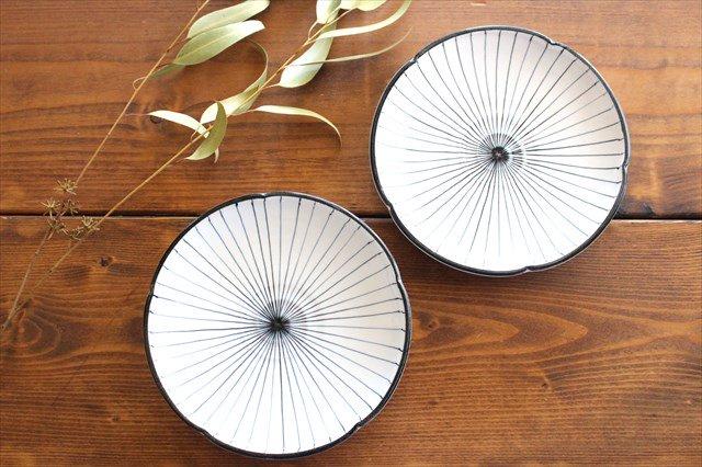 美濃焼 白化粧十草 7寸皿 陶器 画像6