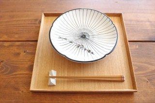 美濃焼 白化粧十草 7寸皿 陶器商品画像