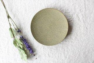 7寸皿 灰釉 陶器 恵山 小林耶摩人商品画像