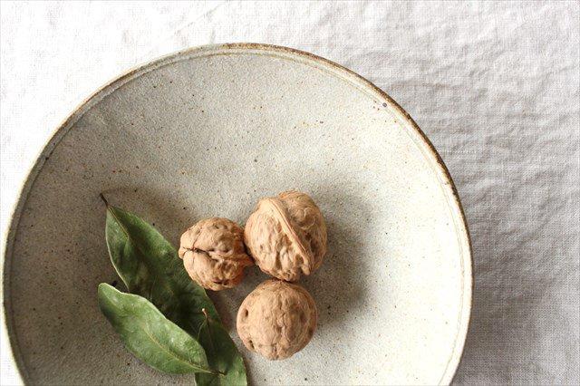 6寸平鉢 粉引 陶器 恵山 小林耶摩人 画像2