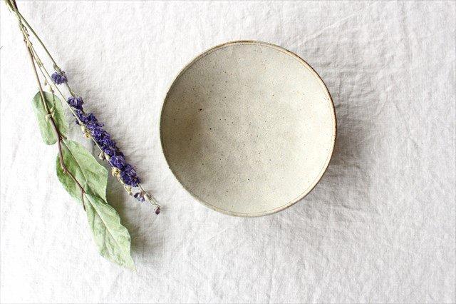 6寸平鉢 粉引 陶器 恵山 小林耶摩人 画像3