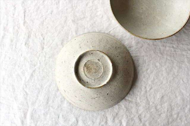 6寸平鉢 粉引 陶器 恵山 小林耶摩人 画像4