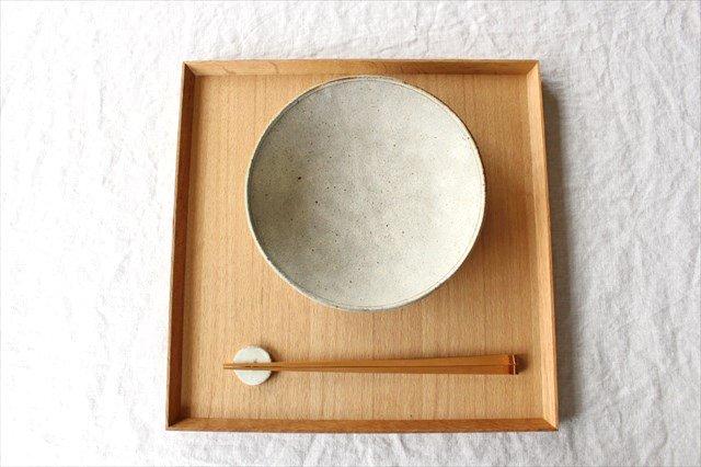 6寸平鉢 粉引 陶器 恵山 小林耶摩人 画像5