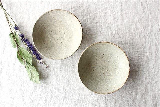 6寸平鉢 粉引 陶器 恵山 小林耶摩人 画像6