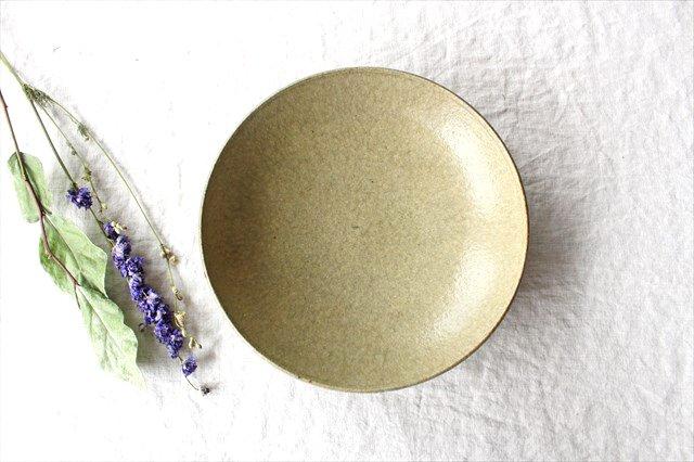 8寸平鉢 灰釉 陶器 恵山 小林耶摩人 画像3