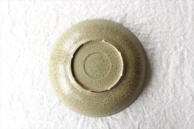 8寸平鉢 灰釉 陶器 恵山 小林耶摩人 画像4