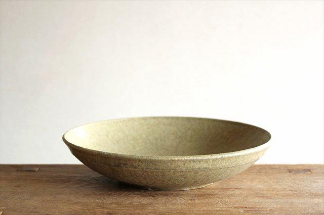 8寸平鉢 灰釉 陶器 恵山 小林耶摩人 画像5