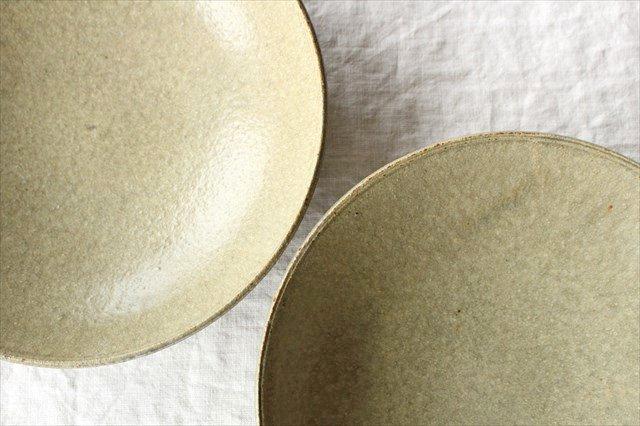 8寸平鉢 灰釉 陶器 恵山 小林耶摩人 画像6