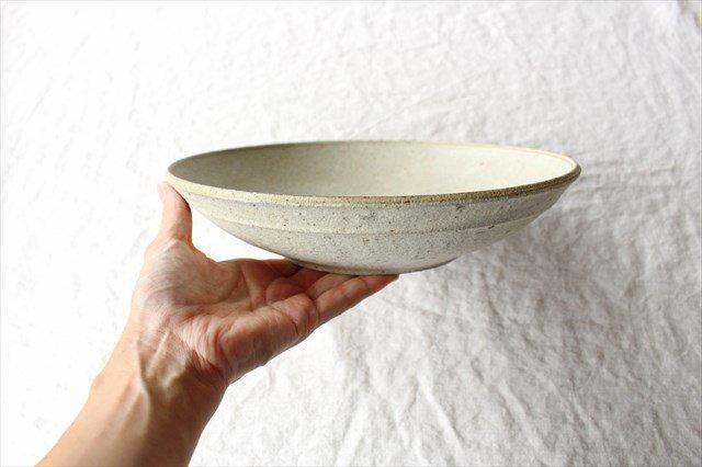 8寸平鉢 粉引 陶器 恵山 小林耶摩人 画像2