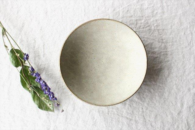 8寸平鉢 粉引 陶器 恵山 小林耶摩人 画像3