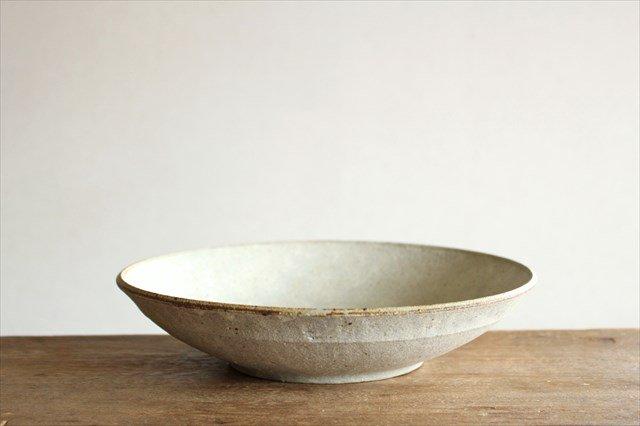 8寸平鉢 粉引 陶器 恵山 小林耶摩人 画像5
