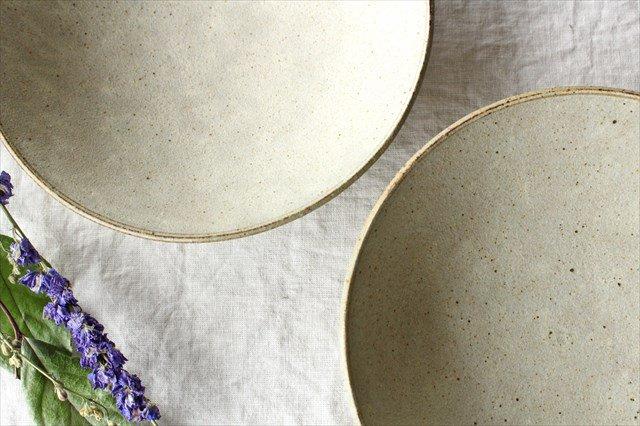 8寸平鉢 粉引 陶器 恵山 小林耶摩人 画像6