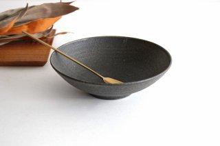 6寸鉢 黒 陶器 寺田昭洋商品画像