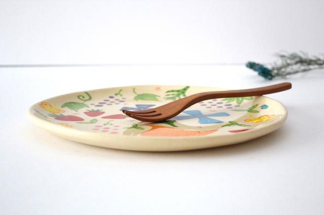 【一点もの】色絵付け大皿 【F】 陶器 工房双子堂 やちむん 画像2