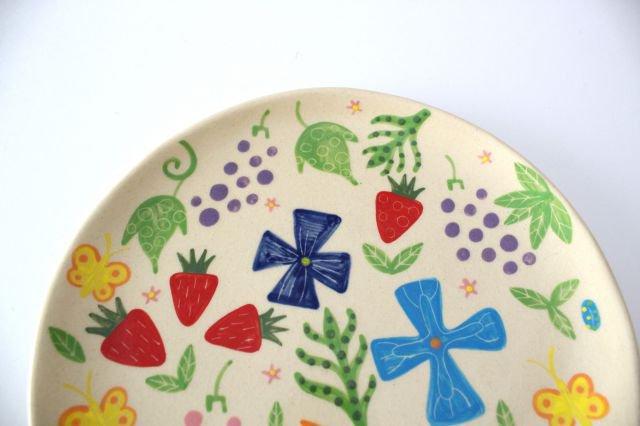 【一点もの】色絵付け大皿 【F】 陶器 工房双子堂 やちむん 画像4